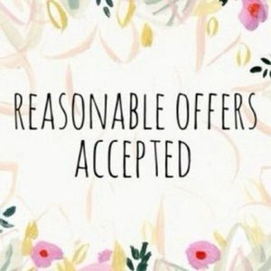 💋 ALL REASONABLE OFFERS WILL BE ACCEPTED 💋